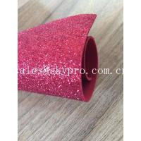China Sparkly Red Printed Glitter EVA Foam Sheet With Non Discoloring Adhesive Ethylene Vinyl Acetate on sale
