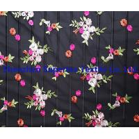 Best Flowers Embroidery Black 100 polyester fabric for Kids' and Women's wholesale