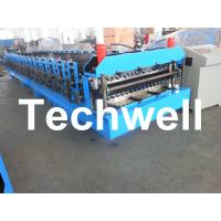 Best Automatical Double Layer Roof Wall Panel Roll Forming Machine With 0.3 - 0.8mm Thickness wholesale