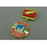 Cheap Zinc Alloy Die Casting Custom Awards Medals , Military Medals With Hard Enamel for sale