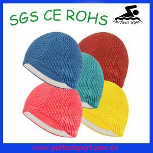 Best Unisex Moulded Latex Flexible Bathing Bubble Swimming Swim Hat Cap wholesale