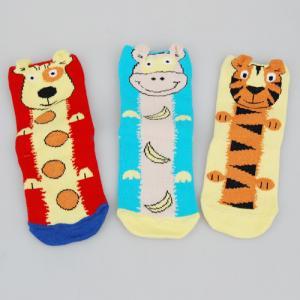 Best Customized Colorful Sports Socks , Kids Novelty Socks With Cute Tiger / Dog Cartoon Animal Patterns wholesale