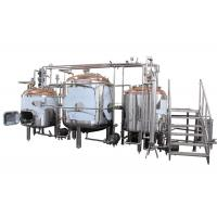 Best Hotel / Brewhouse Copper Beer Brewing Equipment Inner Surface Mirror Polish wholesale