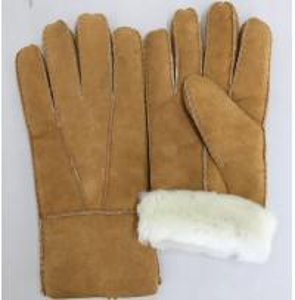 Best comfortable sheepskin double face fur shearling women gloves wholesale