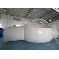Best Half Clear 4m Dome Inflatable Bubble Lodge With Silent Blower wholesale