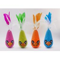 Best Bird Shaped Design Wobble Cat Toy Non Toxic Material With Natural Feathers wholesale