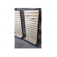 Best Metal Frame Slatwall Display Stand Two Sides 1200 * 450 * 1380MM Multi - Funcutional wholesale