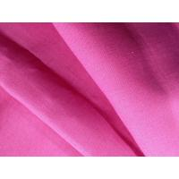 100% Natural Pink Organic Linen Fabric Washable Woven Fabric GOTS Certified 13.5NM * 13.5NM