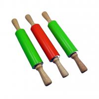 Best FDA and LFGB Wood Handle Silicone Rolling Pin wholesale
