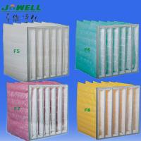 Buy cheap F5 / F6 High Performance, GI Frame 15 inch Multi Pocket Air Filter for Office, from wholesalers