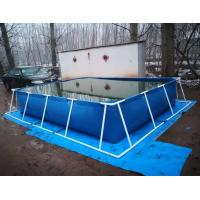Best BGO 4M * 3M * 0.8M Rectangle Shape Tarpaulin Fish Tank Steel Frame With Liner wholesale
