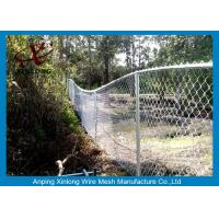 Best Hot Dipped Galvanized Chain Link Fencing , Chain Link Wire Fence For Park wholesale