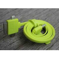 Cheap TPE Long Micro IPhone 5S Multifunction Micro Usb Charging Data Cable Green for sale