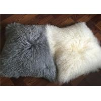 Best sheepskin curly wool pillow case mongolian wool pillow cover lambskin pillow wholesale