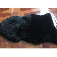 Best Dyed Black Sheepskin Fleece Blankets Soft Warm For Children Room Bed Decoration  wholesale