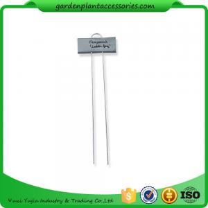 Best Metal Flower Garden Plant Markers /  Labels Silver Color Zinc Coated wholesale