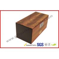 Brown Food Grade Cigar Gift Paper Box  with Tissue Paper Printed
