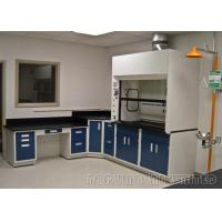 Best Blue And Gray Laboratory Fume Hood / Ductless Fume Cupboard wholesale