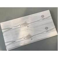 Best Flat 25cm Waterproof Wall Panels Wooden Pattern With Double Silver Lines wholesale
