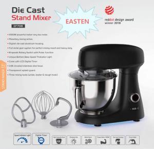 Best China Die Cast Stand Mixer OEM Manufacturer/ Easten New Stand Mixer EF708 Price/ Kitchen Machine wholesale