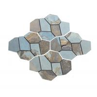 China Outside Block Paving Stones , Hard Quartzite Slate Paver Stepping Stones for sale