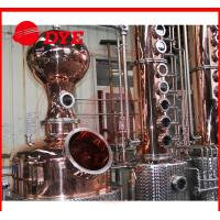 Best 1700L manual industrial alcohol distillation equipment 1 - 3layers wholesale