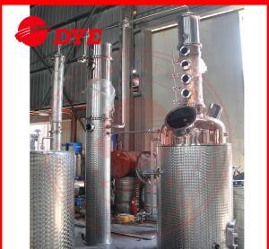 Best 500L Commercial Alcohol Distilling Equipment Semi-Automatic PED wholesale