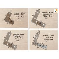 Best Silver Color Sign Making Tools , L Shape Aluminum Profile Interior Corner Connector Joint Bracket wholesale