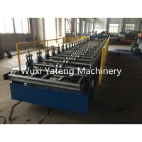 Quality Colorful Steel Roof Panel Roll Forming Machine GI / SS Material 850mm Effective Width wholesale
