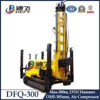 Buy cheap 300m Depth DTH Rock Water Well Drilling Rig, DFQ-300 Drilling Rig Machine Air Compressor from wholesalers