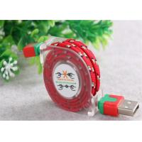 Best Customized USB To Micro USB Retractable Cable , Fabric Braided Micro USB Cable wholesale