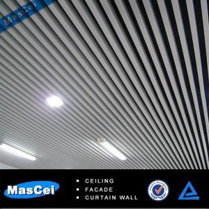 Cheap 50*150mm u-Shaped Wooden Grain Aluminum Baffle Ceiling for sale