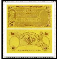 Best Australia Gold Banknote Old AUD 5 Cents Pure 24K Gold Foil Plated Value Collectable wholesale
