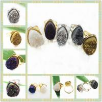 Best Custom Made 12 * 16 MM Tear Drop Shape Druzy Agate Ring Jewelry Making wholesale