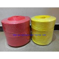 Best 3mm Twist Yellow Banana Twine , Agricultural Twine High Breaking Strength wholesale