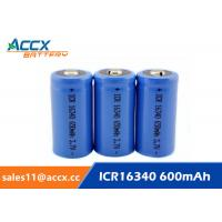 Cheap 16340 650mAh 3.7V li-ion battery / cylindrical rechargeable battery for LED flashlight for sale