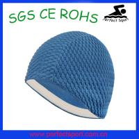 Cheap Natural Rubber Material bubble crepe swim cap for sale