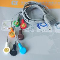 Cheap DMS Holter ECG Cable , 7 Leads IEC Snap Electrode Lead Wires DB Pin Connector for sale