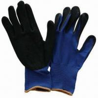 Cheap Nylon Double Sandy Nitrile Dipped Gloves for sale