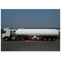 China Carbon steel Insulated heavy oil bitumen asphalt tank trailer , 3 axles semi trailer on sale
