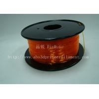 Cheap Orange Flexible 3D Printer Filament Consumables With Great Adhesion for sale