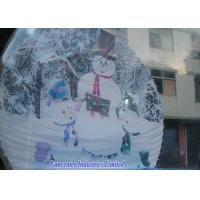 Cheap Snow Globe Inflatable Christmas Decoration , Blow Up Snow Globe Elegant Design for sale