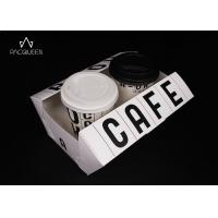 Best Biodegradable Paper Takeaway Boxes Water Resistant For Coffee Paper Cups / Desserts wholesale