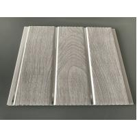 Best Double Middle Groove 25cm Decorative PVC Panels With Wooden Printing wholesale