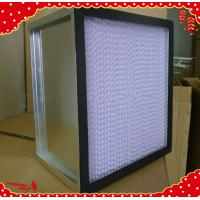 China 610x610x292mm galvanized frame separator mini pleated hepa filter air purifier on sale