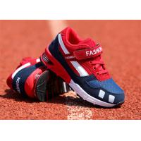 Best Suede Leather Kids Sports Shoes , Little Boys Running Shoes With Magic Strap wholesale