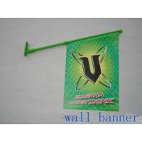 Best Custom PVC Wall Mounted Shop Front Flags With Pole Dye Sublimation wholesale
