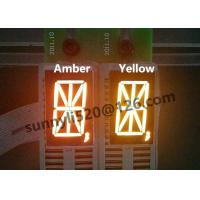 "Best Top quality 0.8"" signle digit 16 7 segments led display with super amber orange 600-602nm wholesale"