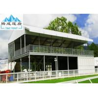 Best Double Decker Outdoor Exhibition Tent Cube Structure With Glass Door wholesale