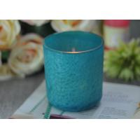 Best Beautiful Wedding Gift Feather Painted Glass Candle Holders Decorative Candle Jars wholesale